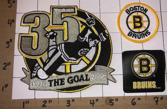 BOBBY ORR THE GOAL 35th ANNIVERSARY BOSTON BRUINS NHL HOCKEY CREST PATCH LOT