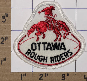 1 RARE VINTAGE OTTAWA ROUGH RIDERS CFL FOOTBALL CREST EMBLEM PATCH LOT