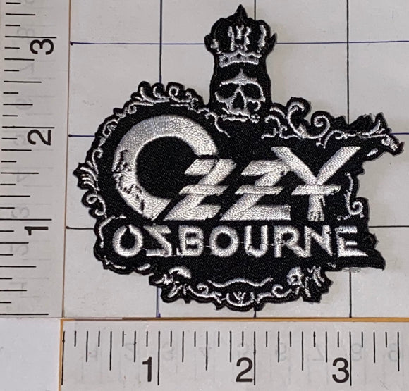 OZZY OSBOURNE AMERICAN HEAVY METAL CONCERT MUSIC SKULL HEAD EMBLEM PATCH