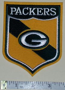 "GREEN BAY PACKERS 5"" SHIELD NFL FOOTBALL PATCH"