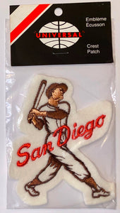 1 VINTAGE SAN DIEGO PADRES MLB BASEBALL PLAYER CREST PATCH MINT IN PACKAGE