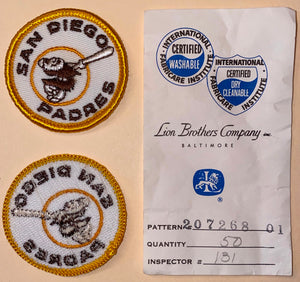 "1 VINTAGE SAN DIEGO PADRES MLB BASEBALL 2"" EMBROIDERED CREST PATCH"