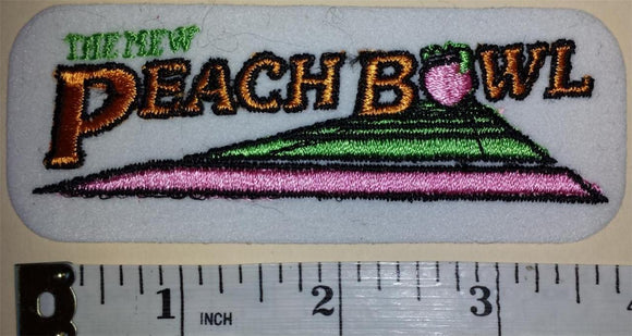 1 VINTAGE NEW PEACH BOWL ATLANTA NCAA FOOTBALL BOWL CREST EMBLEM PATCH