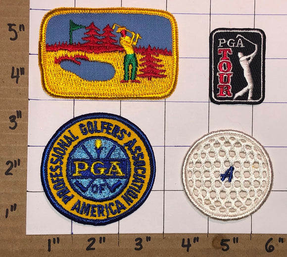 4 PGA TOUR PROFESSIONAL GOLFERS ASSOCIATION OF AMERICA GOLFING PATCH LOT