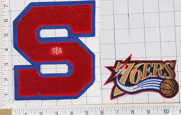 2 PHILADELPHIA 76ERS NBA BASKETBALL CHENILLE PATCH LOT