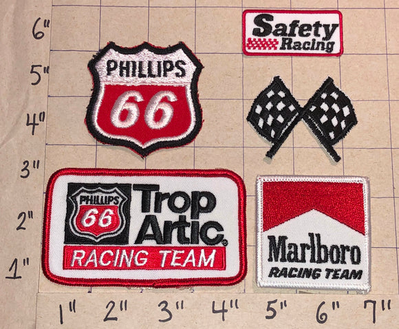 4 RARE PHILLIPS 66 TROP ARTIC TEAM GAS OIL RACING TEAM NASCAR CREST PATCH LOT
