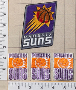 4 PHOENIX SUNS NBA BASKETBALL CREST EMBLEM EMBROIDERED PATCH LOT