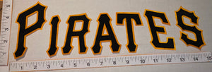 "RARE OFFICIAL PITTSBURGH PIRATES MLB BASEBALL 4"" EMBROIDERED CREST PATCH SET"
