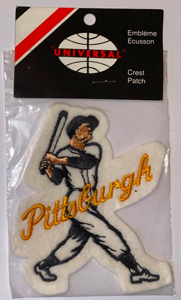 1 VINTAGE PITTSBURGH PIRATES MLB BASEBALL PLAYER CREST PATCH MINT IN PACKAGE