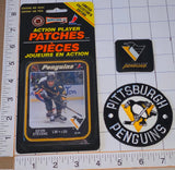 3 RARE PITTSBURGH PENGUINS KEVIN STEVENS NHL HOCKEY ACTION PLAYER PATCH LOT