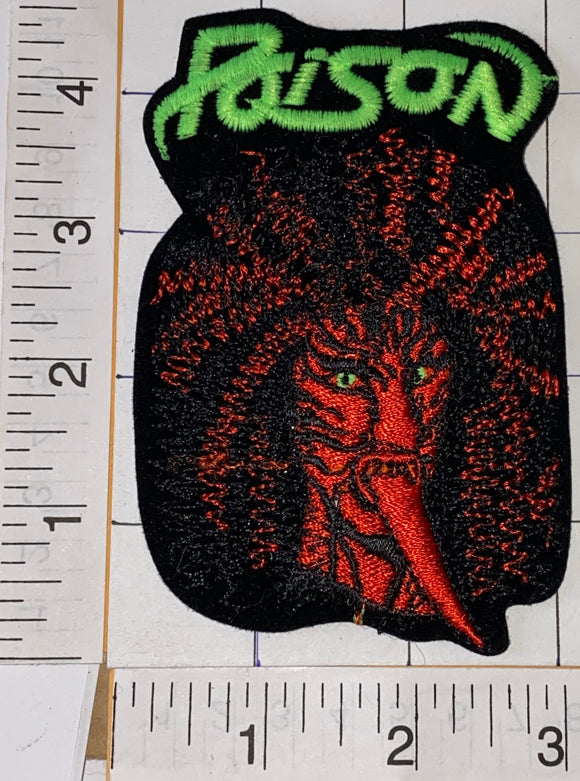 RARE POISON AMERICAN HARD ROCK MUSIC BAND OPEN UP AND SAY AAH ALBUM EMBLEM PATCH