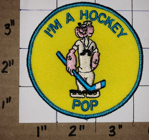 1 RARE POPEYE I'M A HOCKEY POP PATCH EMBLEM CREST