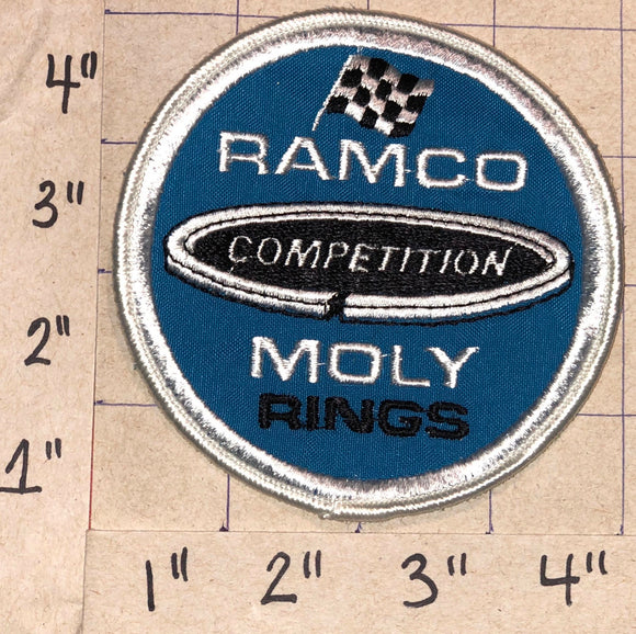 1 RAMCO COMPETITION MOLY RINGS NASCAR RACING CREST EMBLEM PATCH
