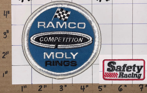 1 RAMCO COMPETITION MOLY RINGS NASCAR SAFETY RACING CREST EMBLEM PATCH