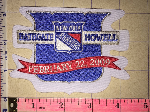 NEW YORK RANGERS ANDY BATHGATE & HARRY HOWELL RETIREMENT NIGHT NHL HOCKEY PATCH