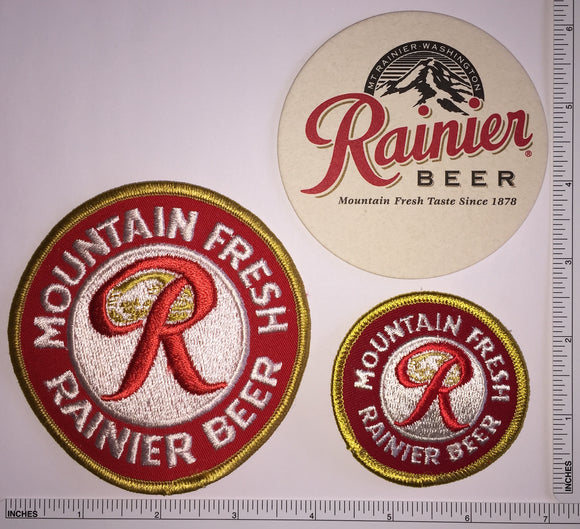 RAINIER MOUNTAIN FRESH RAINIER BEER BREWERY CREST PATCH LOT