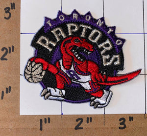"1 TORONTO RAPTORS NBA BASKETBALL WE THE NORTH RAPTOR 3"" CREST EMBLEM PATCH"