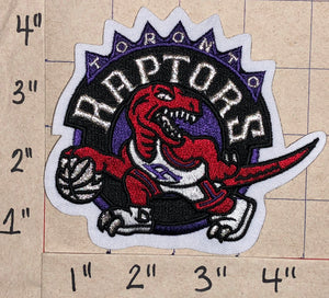 "1 TORONTO RAPTORS NBA BASKETBALL WE THE NORTH RAPTOR 4"" WHITE CREST EMBLEM PATCH"
