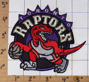 "1 TORONTO RAPTORS NBA BASKETBALL WE THE NORTH RAPTOR 5"" CREST EMBLEM PATCH"