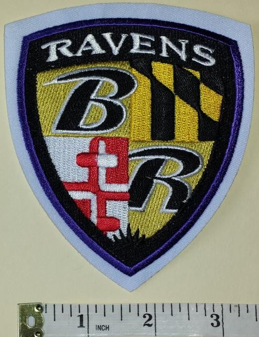 1 BALTIMORE RAVENS NFL FOOTBALL SHIELD CREST EMBLEM PATCH