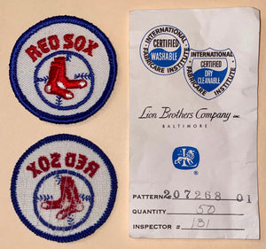 "1 VINTAGE BOSTON RED SOX MLB BASEBALL 2"" EMBROIDERED CREST PATCH"