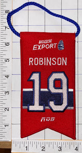 LARRY ROBINSON MONTREAL CANADIENS #19 RETIREMENT BANNER NHL HOCKEY RDS MOLSON