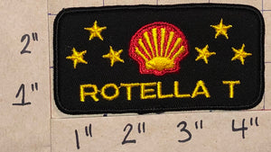 1 VINTAGE SHELL ROTELLA T OIL GAS REFINERY LUBRICANT CREST EMBLEM PATCH