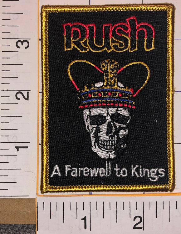RUSH A FAREWELL TO KINGS MUSIC ALBUM BAND PATCH GEDDY LEE NEIL PEART LIFESON