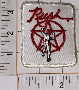 1 RARE VINTAGE RUSH MUSIC ALBUM BAND PATCH GEDDY LEE NEIL PEART LIFESON