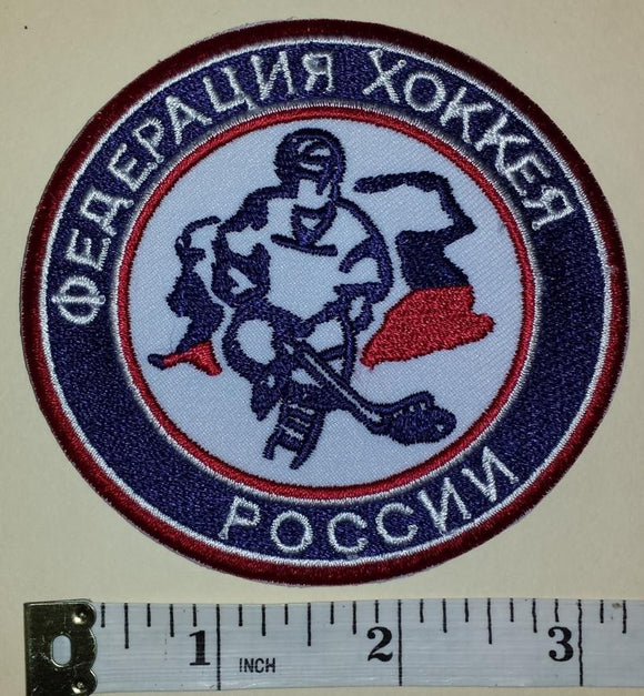 1 RUSSIA WINTER OLYMPICS JUNIOR HOCKEY EMBLEM CREST PATCH