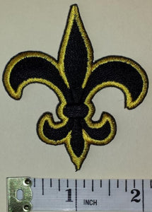 1 NEW ORLEANS SAINTS GOLD LOGO NFL FOOTBALL PATCH