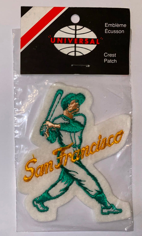 1 VINTAGE SAN FRANCISCO GIANTS MLB BASEBALL PLAYER CREST PATCH MINT IN PACKAGE
