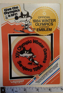 1 VINTAGE 1984 SARAJEVO XIV WINTER OLYMPICS SPEED SKATING CREST MIP PATCH