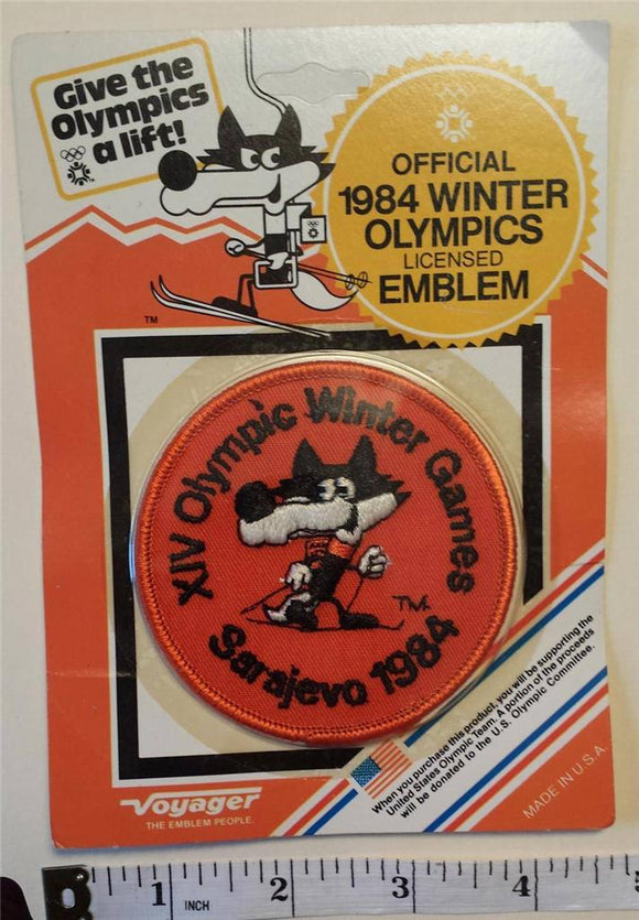 1 VINTAGE 1984 SARAJEVO XIV WINTER OLYMPICS CROSS COUNTRY SKIING CREST MIP PATCH