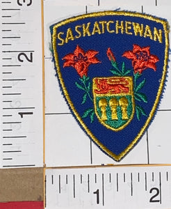 1 SASKATCHEWAN CANADA CREST TRAVEL TOURIST TOURISM EMBLEM PATCH