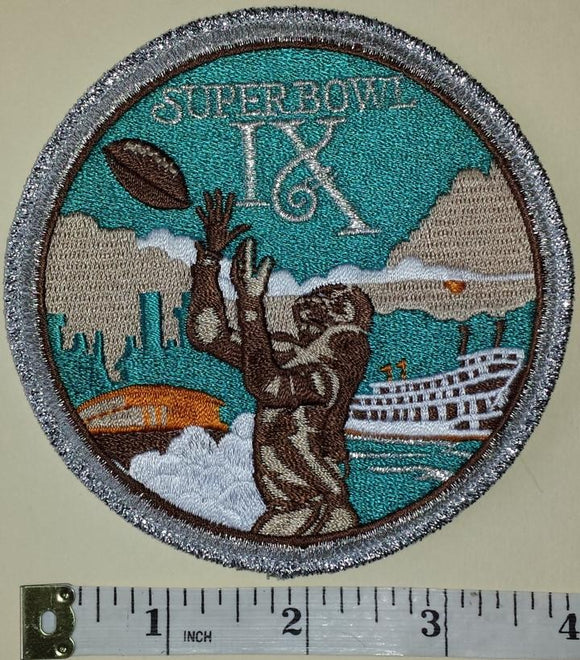 SUPER BOWL IX PITTSBURGH STEELERS vs  MINNESOTA VIKING NFL FOOTBALL EMBLEM PATCH