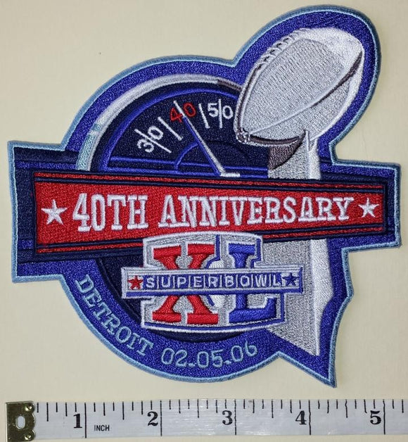 SUPER BOWL 40 XL SEATTLE SEAHAWKS vs PITTSBURGH STEELERS NFL FOOTBALL PATCH