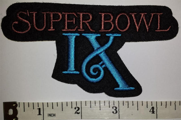 SUPER BOWL IX PITTSBURGH STEELERS vs MINNESOTA VIKING NFL FOOTBALL PATCH