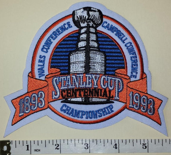 1993 MONTREAL CANADIENS STANLEY CUP CHAMPIONS ENGLISH NHL HOCKEY CREST PATCH