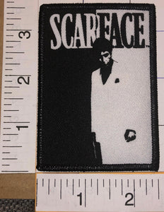 1 OFFICIAL SCARFACE TONY MONTANA AL PACINO THE WORLD IS YOURS BLACK EMBLEM PATCH