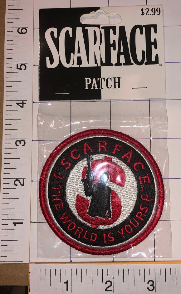 1 SCARFACE THE WORLD IS YOURS AL PACINO TONY MONTANA MONEY POWER MIP PATCH