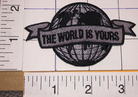SCARFACE MOVIE TONY MONTANA AL PACINO THE WORLD IS YOURS CREST EMBLEM PATCH