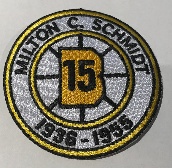 BOSTON BRUINS MILTON SCHMIDT #15 RETIREMENT 1938-1955 NHL HOCKEY EMBLEM PATCH