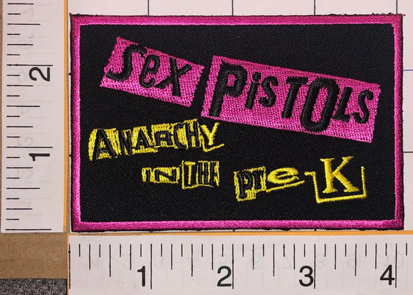 THE SEX PISTOLS ANARCHY IN THE PRE-K PUNK ROCK MUSIC BAND CONCERT PINK PATCH