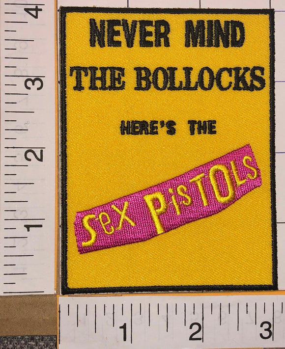 THE SEX PISTOLS NEVER MIND THE BOLLOCKS PUNK ROCK MUSIC BAND CONCERT PATCH