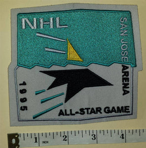 1995 CANCELLED SAN JOSE SHARKS ALL STAR GAME NHL HOCKEY BADGE CREST PATCH
