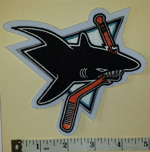 1 SAN JOSE SHARKS 5 inch NHL HOCKEY BADGE CREST PATCH