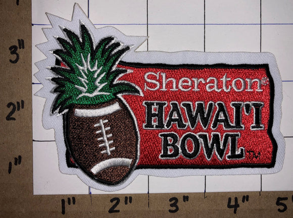 1 SHERATON HAWAII HAWAI'I BOWL ALOHA STADIUM NCAA FOOTBALL CREST EMBLEM PATCH