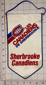 "SHERBROOKE CANADIENS OFFICIALLY LICENSED NHL HOCKEY 10"" PENNANT RAYON BANNER"