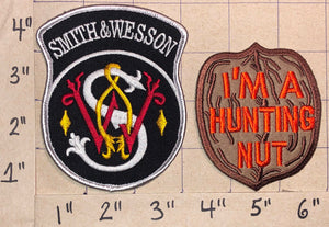 2 SMITH & WESSON GUNS HUNTING & SPORTING PRECISION SHOTGUNS CREST PATCH LOT